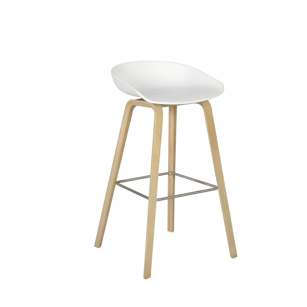 tabouret soho blanc bois internation moduling. Black Bedroom Furniture Sets. Home Design Ideas
