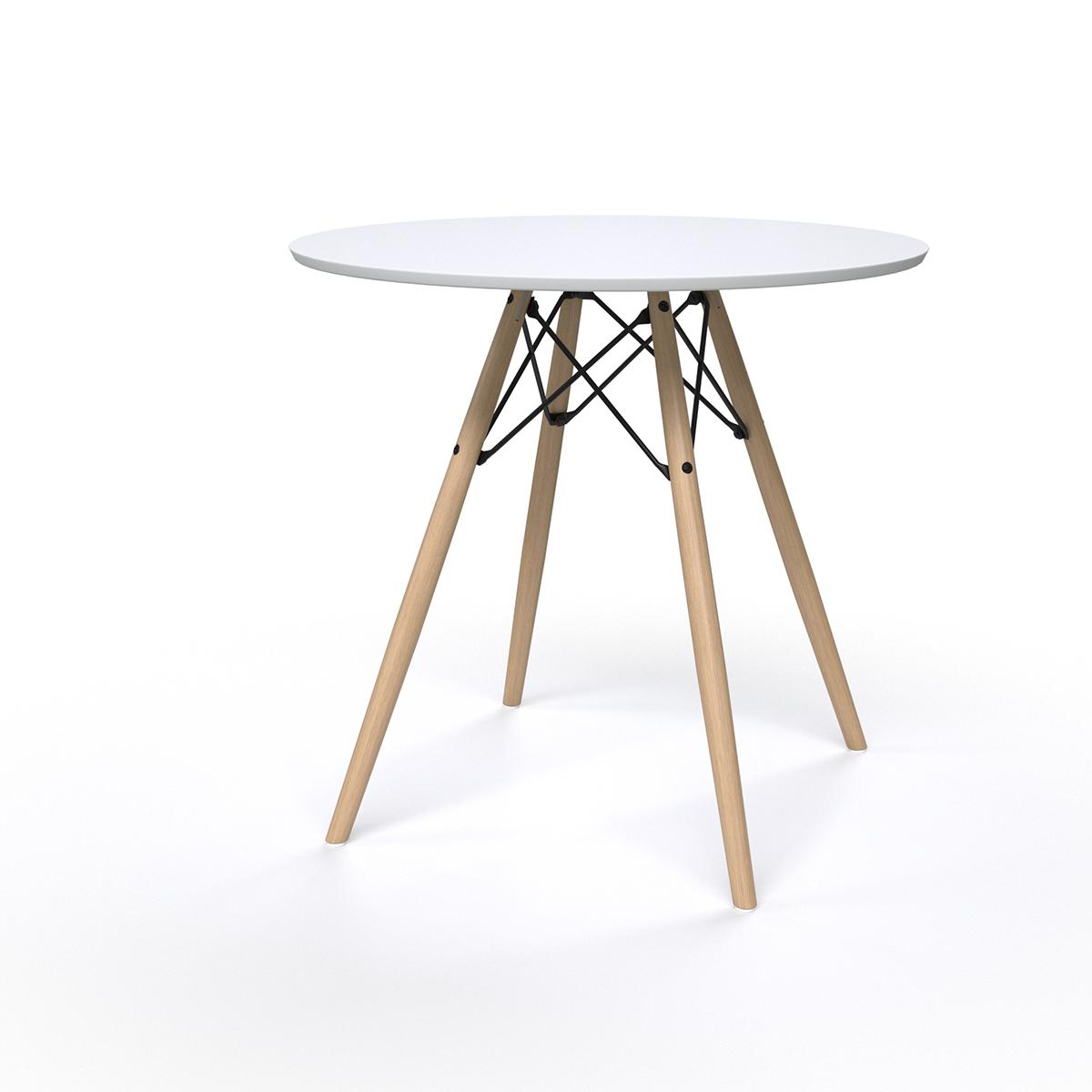 TABLE SCANDINAVE BLANCHE - Ø7