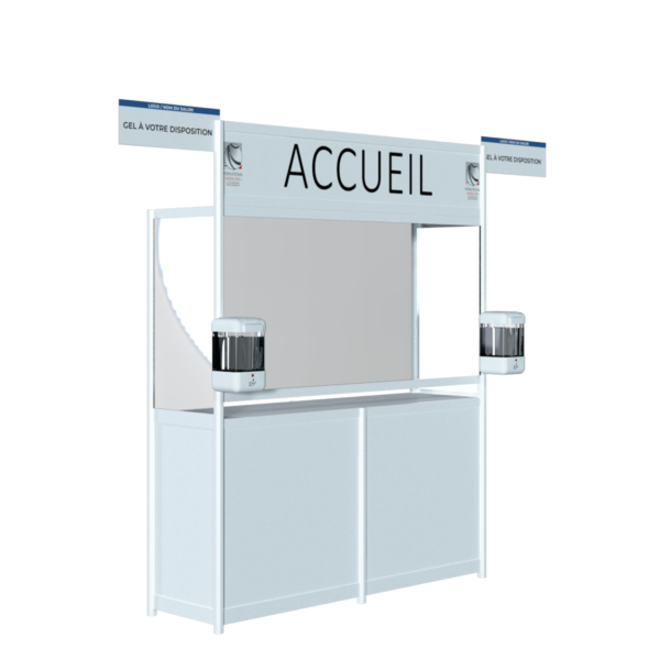 Distributeurs gel accueil salon