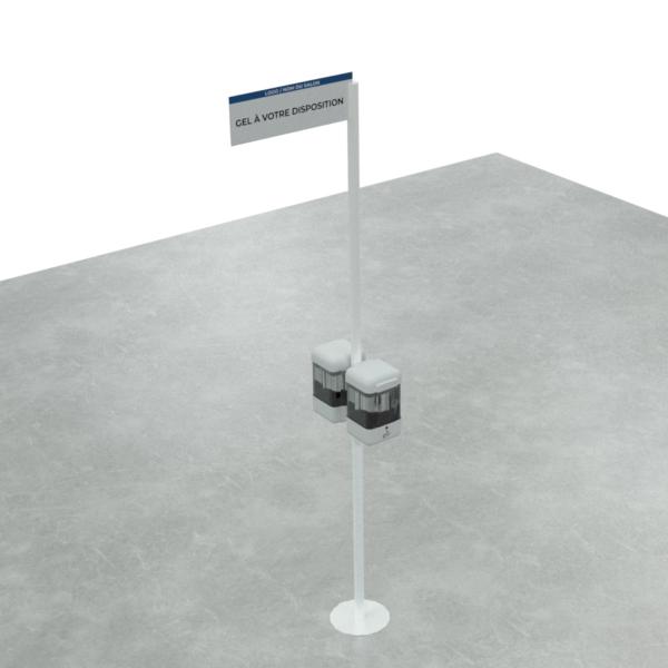 Distributeur gel colonne double